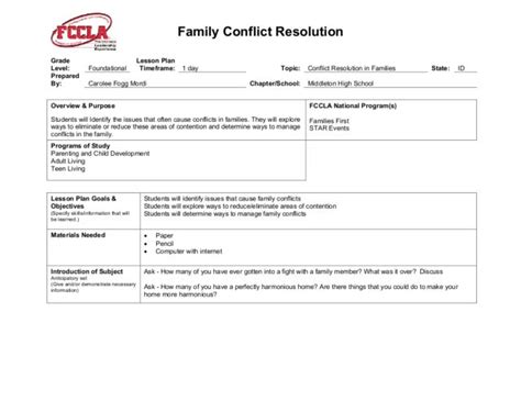 Conflict Resolution Worksheet by Printables Conflict Resolution Worksheet