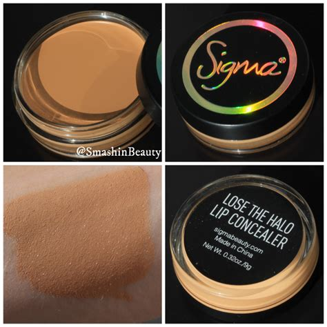 Sigma Lip Concealer In Lose The Halo sigma born to be collection makeup review swatches smashinbeauty