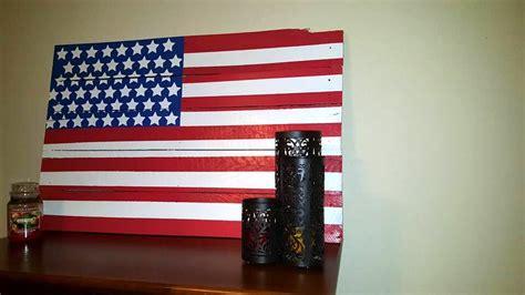 Handmade American Flag - diy painted pallet american flag sign 101 pallets