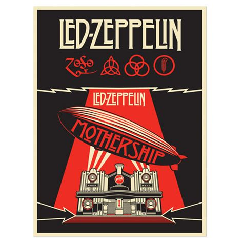 Led Zeppelin Mothership inside the rock poster frame shepard fairey led