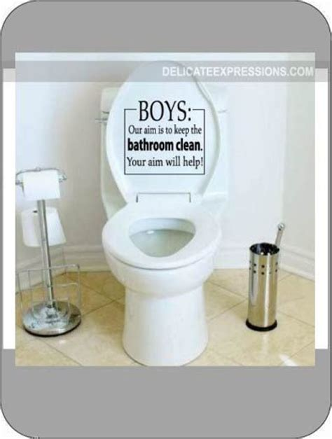how to clean a vinyl bathtub toilet decal boys our aim keep the bathroom clean