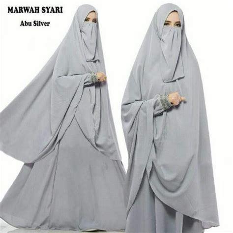 Marwah Mocca by Gamis Waffle Marwah Syari Plus Cadar Gamis Polos Murah