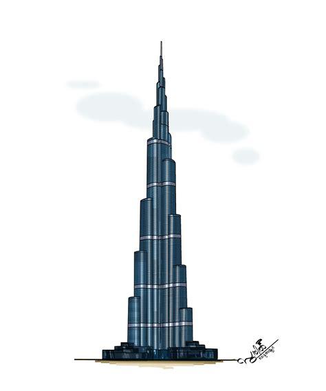 How To Draw Burj Khalifa