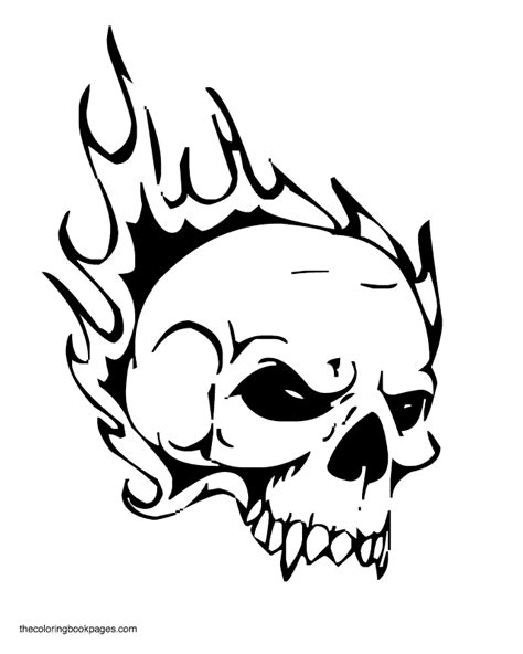 coloring pages fire skulls free coloring pages of on fire skull