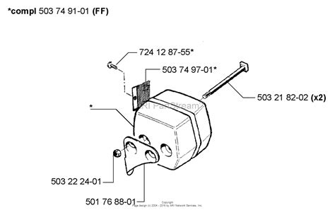 husqvarna 55 rancher parts diagram husqvarna 55 rancher epa 1998 08 parts diagram for muffler