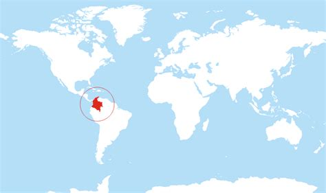 colombia on a world map where is colombia located on the world map