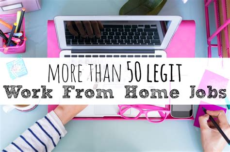 Legit Online Work From Home Jobs - 50 legitimate work from home job opportunities single