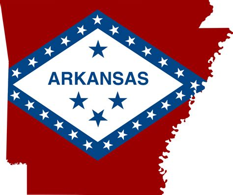 map arkansas file flag map of arkansas svg
