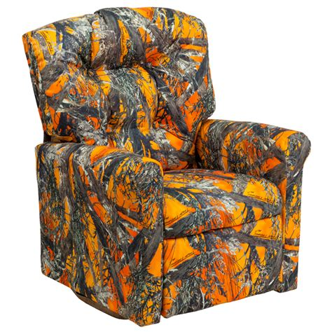 kids camo recliner kids orange camouflage fabric rocker recliner yg rr 3 gg