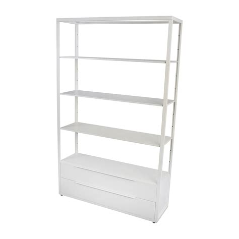 ikea shelving 63 off ikea ikea white shelving unit with drawers storage