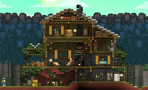 Cabin Plans With Porch images about terraria and starbound on pinterest terrarium