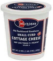 Calories In A Cottage Cheese by Calories In Michigan Cottage Cheese Small Curd Nutrition