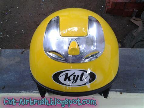 Helm Kyt Kuning helm kyt kuning airbrush motif kumbang kura kura cat airbrush