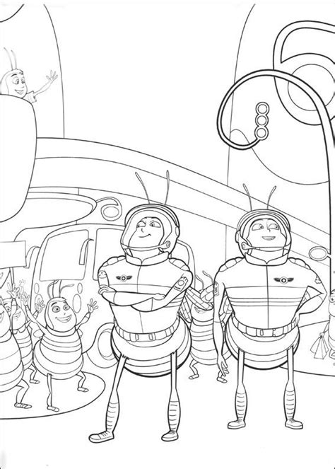 kids n fun com 40 coloring pages of bee movie