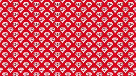Red White Diamonds Desktop Wallpaper