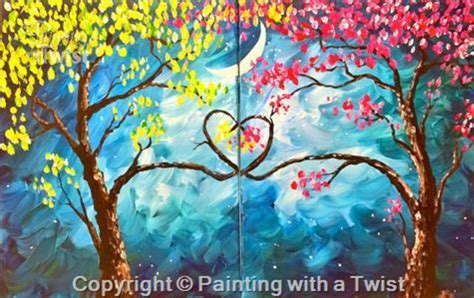 paint with a twist las vegas painting with a twist encore quot tree set quot in at