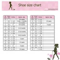 and shoes shoes chart