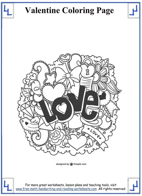 valentine math coloring page valentine s day coloring worksheets 4th grade math