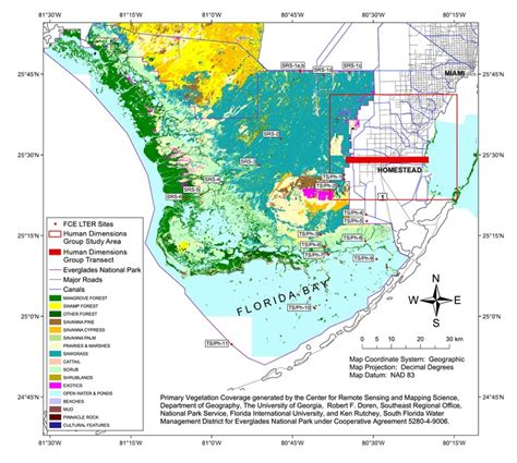 Map Of Florida Everglades by Map Of Florida Coastal Everglades The One And Only