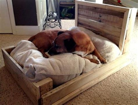 diy wooden dog bed diy pallet dog bed furniture pallets designs