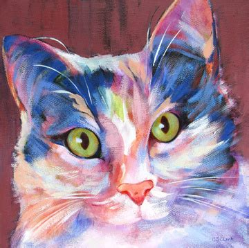copy cat painting carolee s clark painter award winning acrylic and