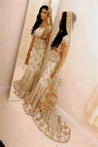 white and gold indian wedding dresses
