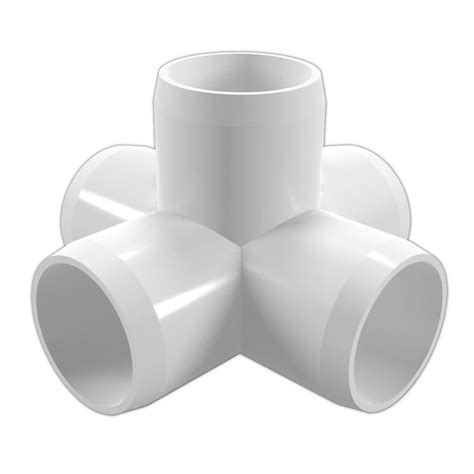 formufit 1 in furniture grade pvc 5 way cross in white 4