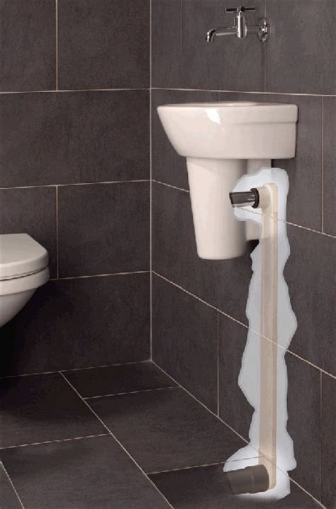 Afmeting Toilet Afvoer by Afvoer Wasbak Toilet In Muur Verwerken