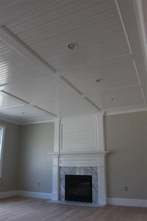 wainscot ceiling panels beadboard recess panel ceiling custom home finish schaab