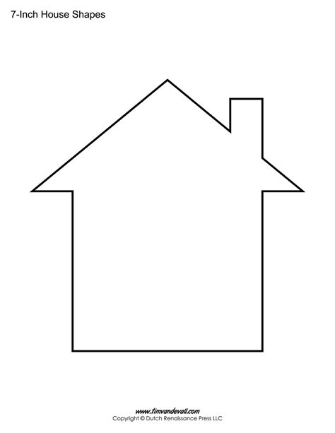 house outline house templates free blank house shape pdfs