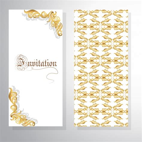 invitation design vector free download ornamental invitation design vector free download