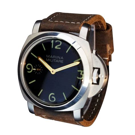 Marina Militare Homage by Whatswatch 47mm Parnis 1950s Fiddy Style Pam