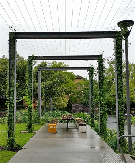 Trellis Park foley rest park cable trellis tensile design