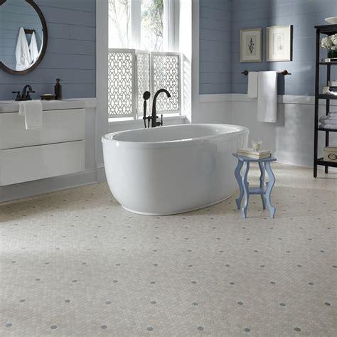 Retro Bathroom Flooring Luxury Vinyl Sheet Flooring Unique Decorative Design And