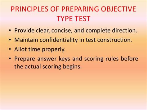 pattern of objective type questions objective test bsc second year copy