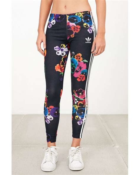 Adidas Flower Fastival Suitshirt Hoodie And Legging Print Compression adidas originals originals floral print legging in black