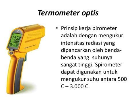 Termometer Gas temperatur dan jenis jenis termometer