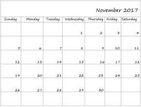 november calendar 2017 size calendar template