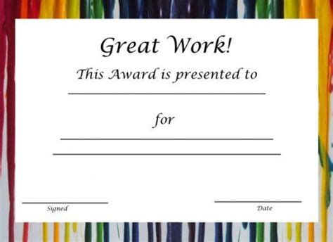 spot award certificate template free printable award certificates for hubpages