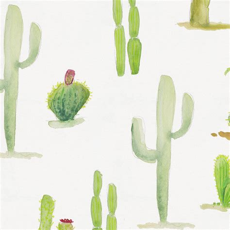 Home Design Comforter watercolor cactus fabric by the yard red fabric