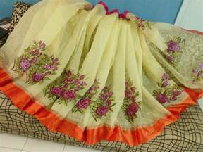 new design fabric painting on sarees dress tops