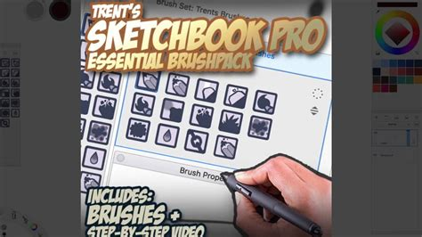sketchbook essentials tutorial trents essential brushes 2017 tour sketchbook pro youtube