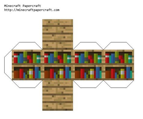 Papercraft Books - minecraft papercraft bookshelf anthony s things