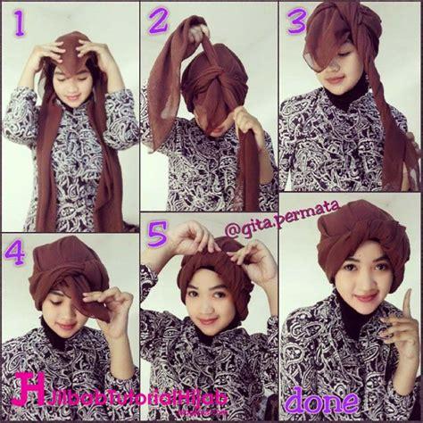 tutorial hijab turban segi empat paris yanda zaenal sukses tutorial hijab turban segi empat simple