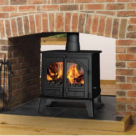 double sided fireplace smoke in house country collection parkray consort 15