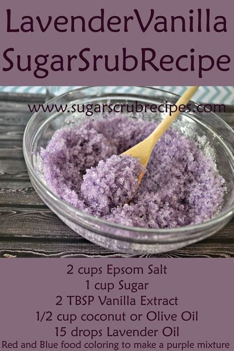 lavender vanilla sugar scrub recipe diy body scrub   skin type quiz    create