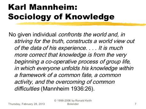 Karl Mannheim Essays On The Sociology Of Knowledge 1952 by Karl Mannheim