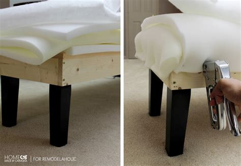 upholstering a bench stunning diy tufted bench