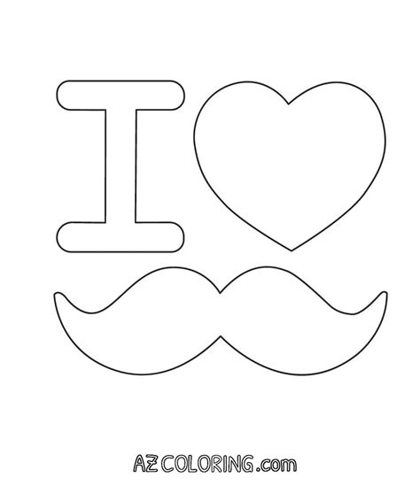 Mustache Coloring Page Coloring Home Moustache Coloring Pages