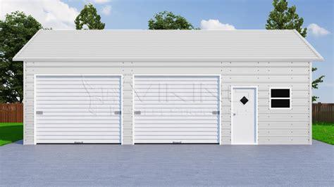 24x36 Garage by 24x36 Side Entry Steel Garage